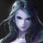 Аватар Лицо девушки с татуировкой над бровью
