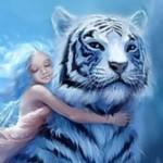 Аватар Девочка с тигром