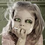 Аватар Зеленоглазая девочка с сигаретой