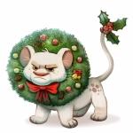 Аватар Недовольный львенок наряженный на Новый год