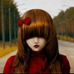 Аватар Девочка с челкой и бантиком