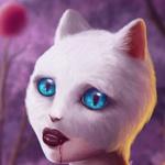 Аватар Девушка -кошка с кровью на губах