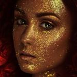 Аватар Лицо девушки в бронзовом макияже