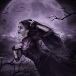 Аватар Девушка на фоне пурпурной луны, by IvannaDark