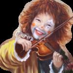 Аватар Веселая девочка-клоун играет на скрипке