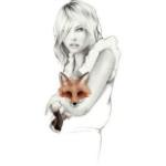 Аватар Девушка держит лису, фэшн-иллюстратор Kelly Smith