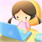 Аватар Девочка с ноутбуком