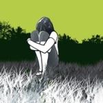 Аватар Грустная девушка сидит в поле