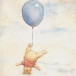 Аватар Винни-пух висит вниз головой на воздушном шаре