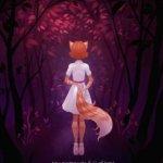 Аватар Девочка - лисичка стоит к нам спиной