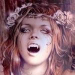 Аватар Голодная рыжая вампирша с венком из роз на голове, art by Victoria Frances