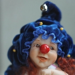 Аватар Кукольный клоун в синей шляпе