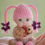 Аватар Кукольный малыш в розовой шапочке и пинетках