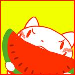 Аватар Сердитый котенок ест арбуз