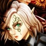 Аватар Зеленоглазая эльфийка с тату на лице
