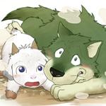 Аватар Волк Гав / Gabu и козленок Мэй / Mei из аниме Ночная буря / Arashi no Yoru ni