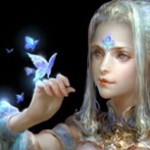 Аватар Девушка с бабочкой на руке