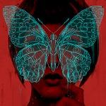 Аватар Девушка с бабочкой на лице
