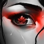 Аватар Осенний лист в глазе девушки, by BoFeng