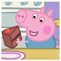 Аватар Свинка Джордж смотрит с улыбкой на торт, мультфильм Свинка Пеппа / Peppa Pig