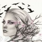 Аватар Девушка в окружении птиц, by Zindy