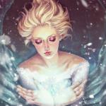 Аватар Девушка со светлыми волосами держит в руках сферу / Арт на Эльзу из мультфильма Холодное сердце