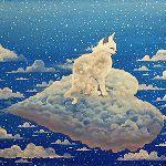 Аватар Облачный котенок сидит на облачном сердечке, by Raphael Vavasseur