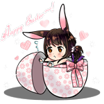 Аватар Девушка с кроличьими ушками сидит в яйце (Счастливой Пасхи / Happy Easter), by AskTokyoChan