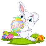 Аватар Пасхальный кролик держит большое яйцо