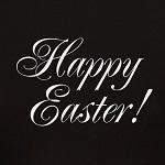 Аватар Надпись на черном фоне Счастливой Пасхи! / Happy Easter!
