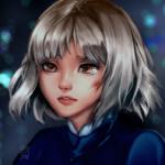 Аватар Девочка с серебристыми волосами, by Seojinni