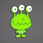 Аватар Инопланетянин, маленький зеленый трехглазый пришелец