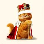 Аватар Кот Гарфилд / Garfield в мантии и с короной