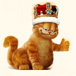 Аватар Самодовольный кот Гарфилд / Garfield в короне