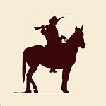 Аватар Силуэт ковбоя на лошади с ружьем
