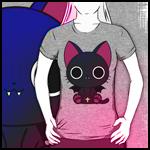 Аватар Девушка в футболке с Nyanpire / Нянпиром из аниме Nyanpire / Нянпир