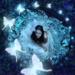 Аватар Девушка смотрит на бабочек, by EnchantedWhispersArt