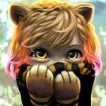 Аватар Девочка в образе тигренка держит лапки перед лицом, Dora the Explorer, иллюстратор Cassio Yoshiyaki