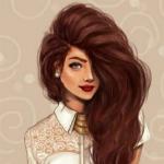 Аватар Девушка с коричневыми волосами в белой блузе