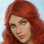 Аватар Девушка с рыжими волосами и голубыми глазами