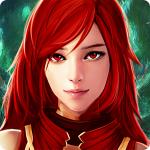 Аватар Девушка с красными волосами и красными глазами