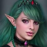 Аватар Эльфийка с оливковыми волосами