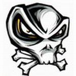 Аватар Изображение злобного черепа с костями