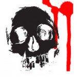 Аватар Нарисованный череп с кровью
