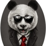 Аватар Панда в костюме и в очках