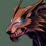 Аватар Страшный оскал волка-оборотня, werewolf