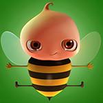 Аватар Пчела на зеленом фоне