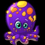 Аватар Осьминожка вся в цветах, фиолетовая, с щупальцами