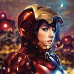 Аватар Девушка в костюме Железного человека
