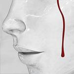 Аватар Рисунок лица девушки, у которой течет кровь по щеке
